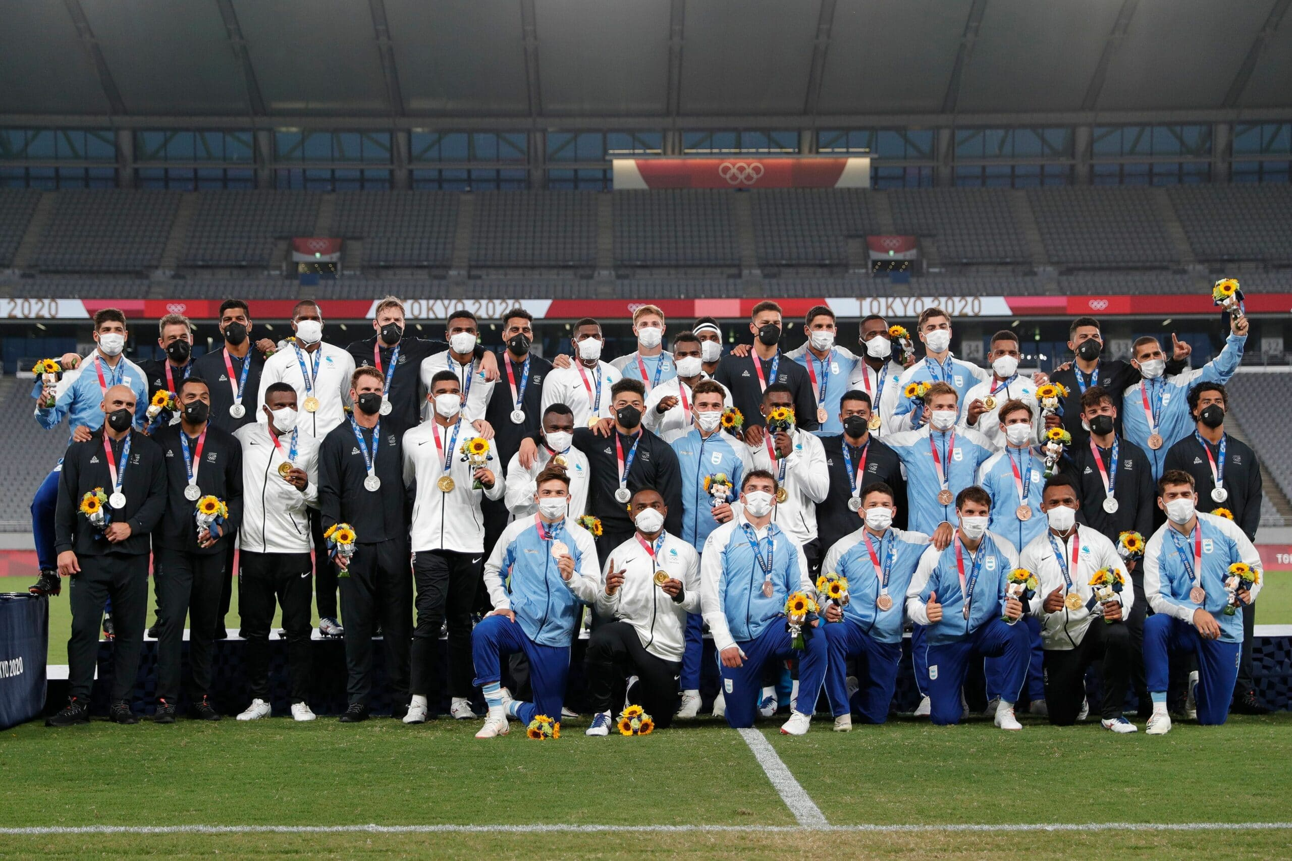 fiji celebrate at the tokyo olympic games 2020 scaled