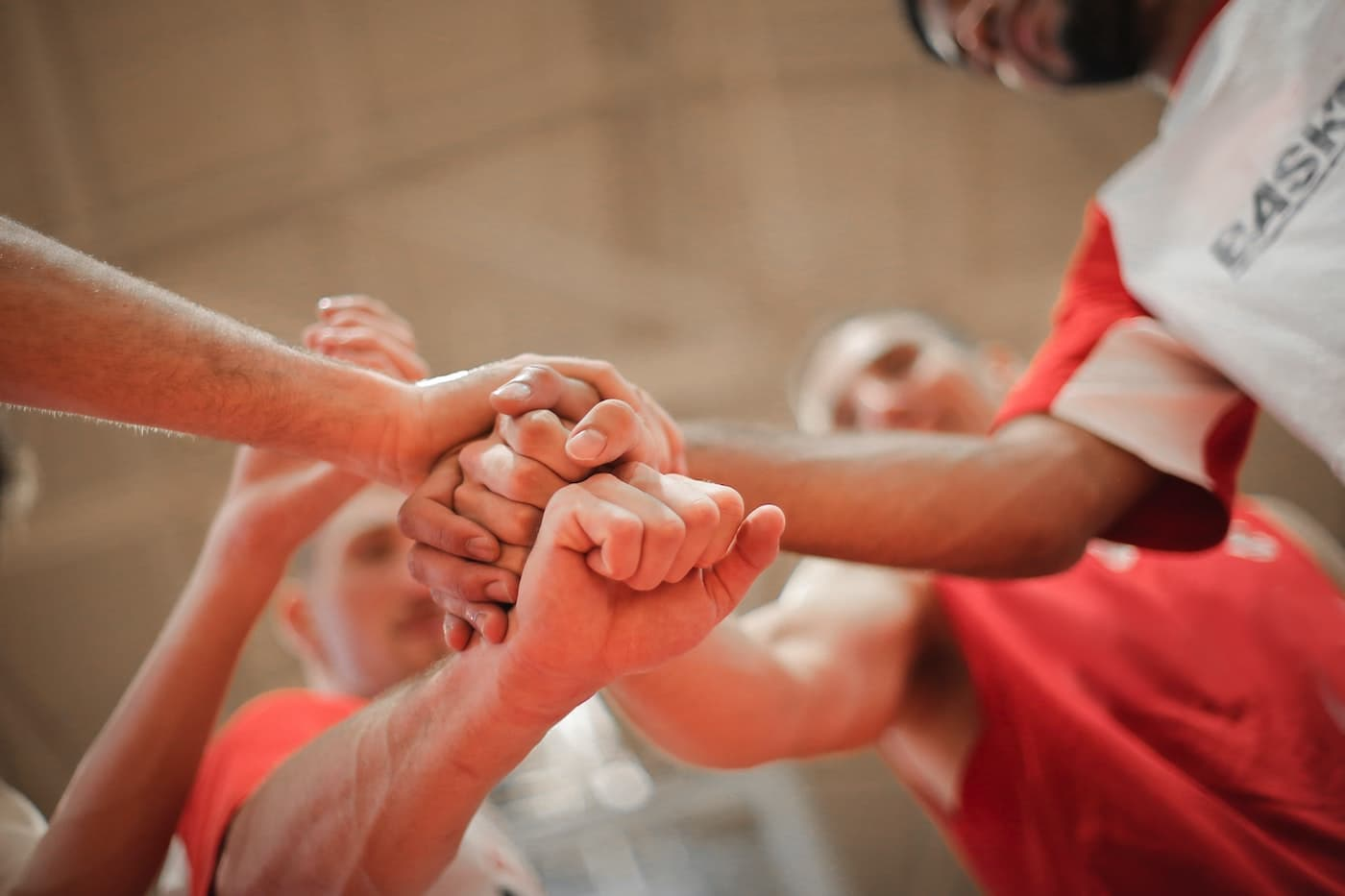 sport group come together