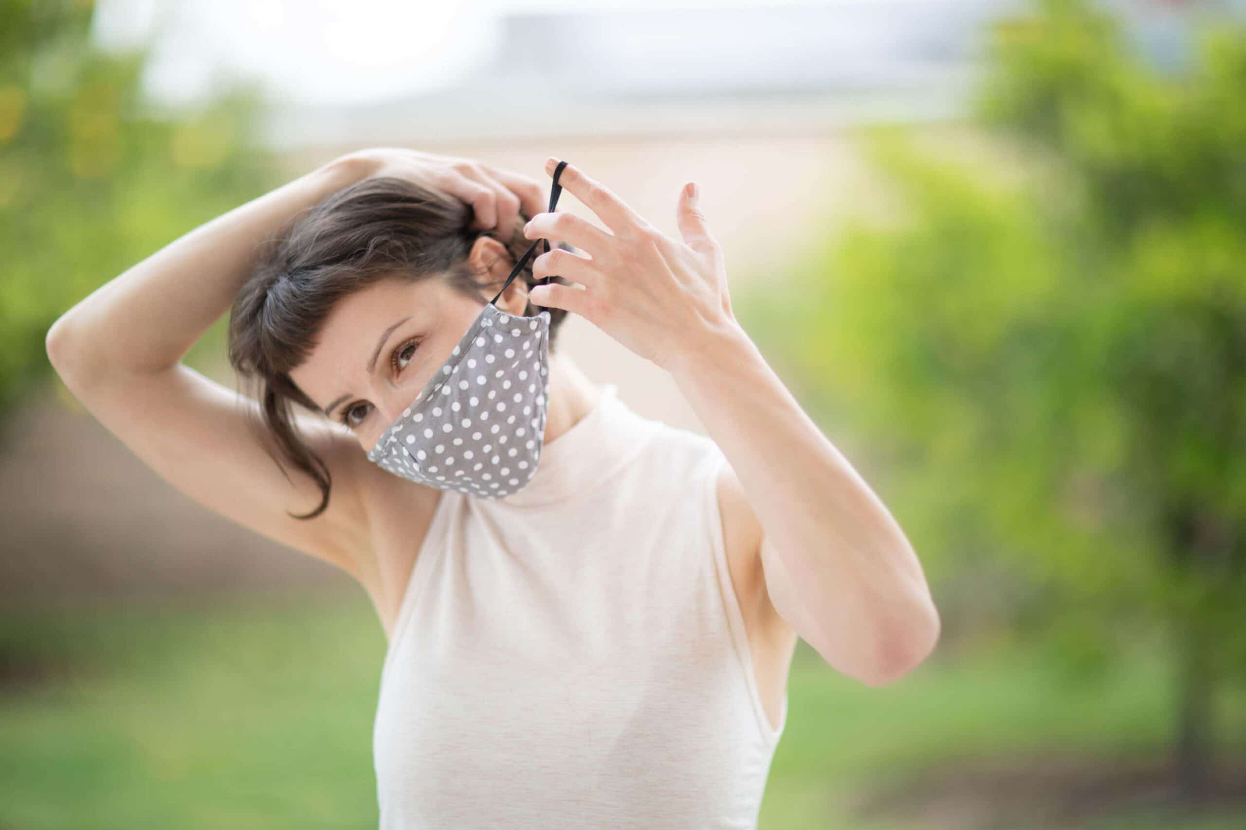 woman wearing facemask scaled