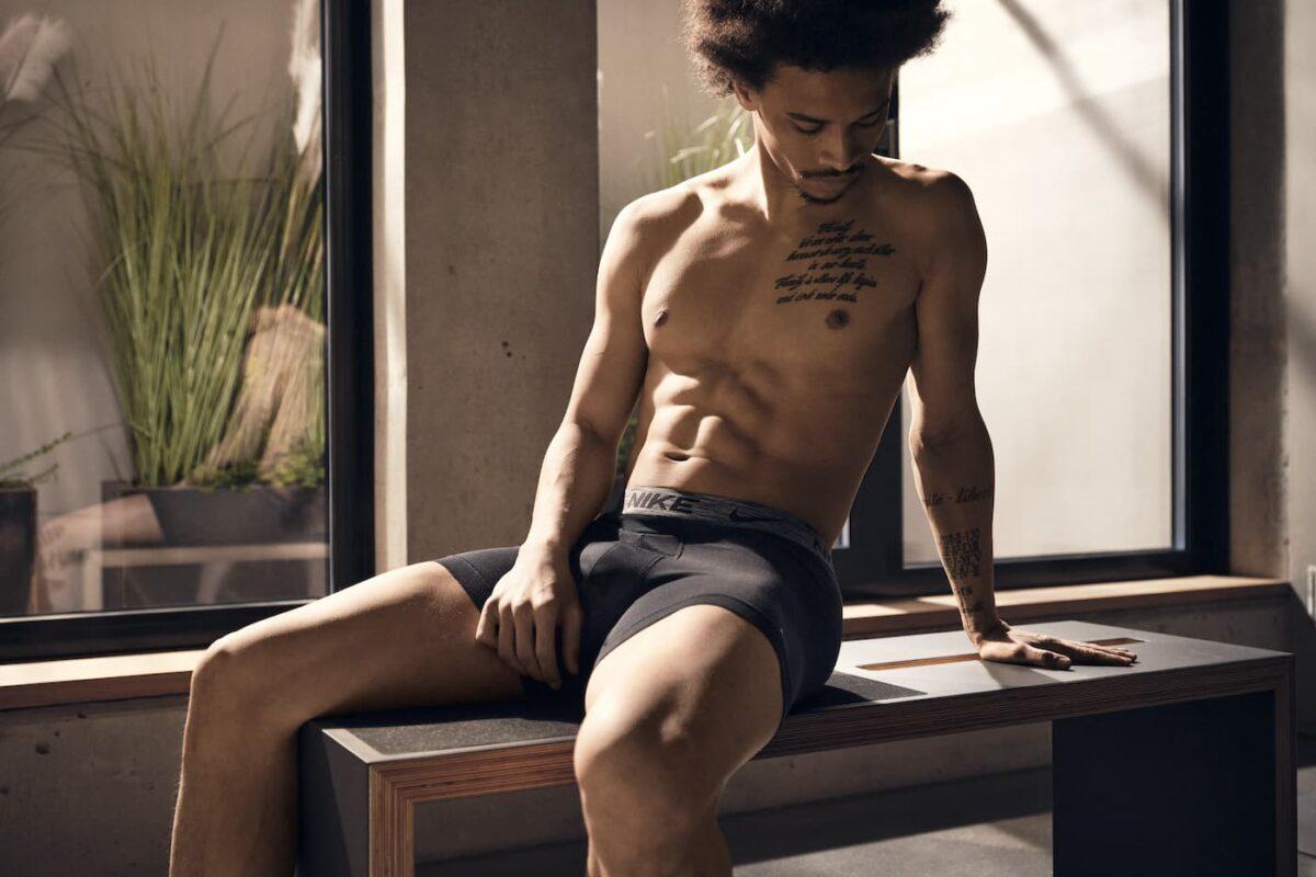 Leroy Sané Reveals The First 'Move To Zero' Nike Underwear Line