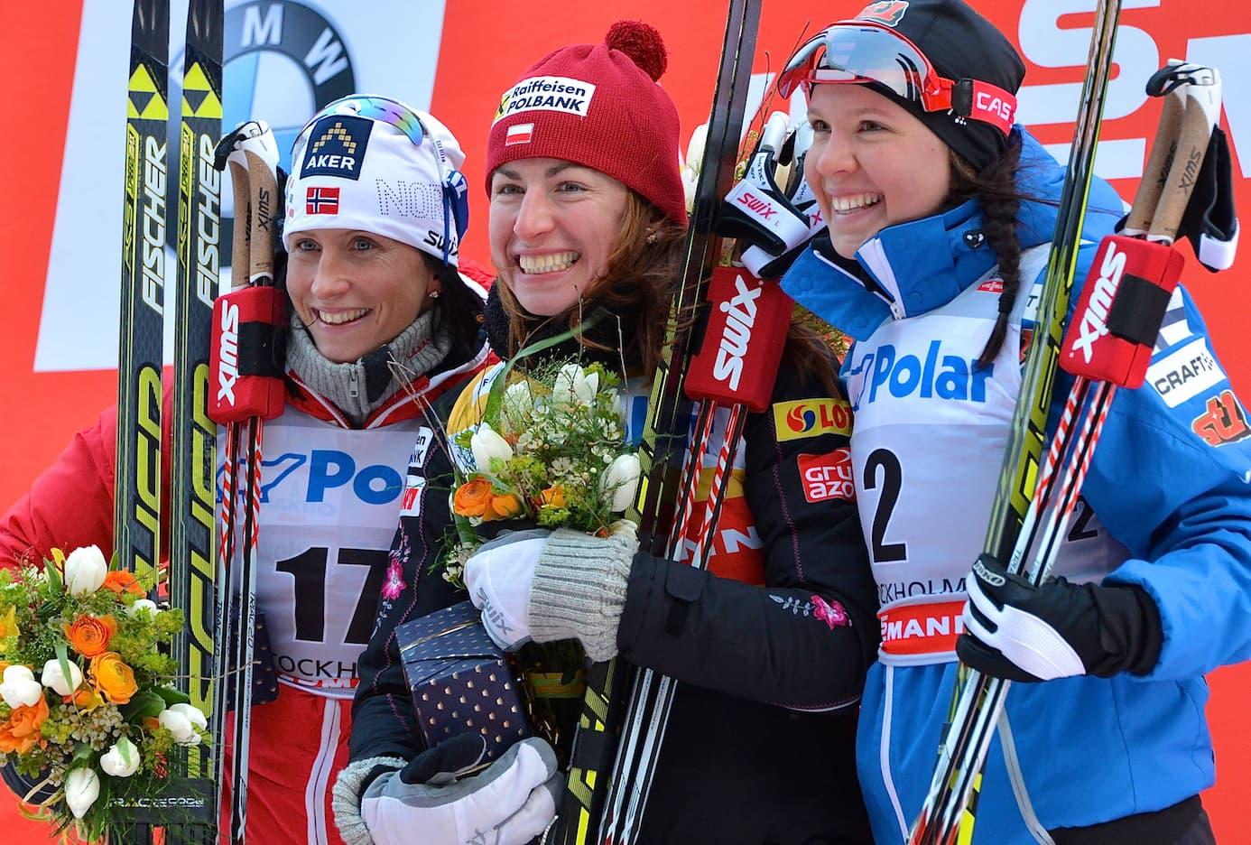 Marit Björgen Justyna Kowalczyk Kerttu Niskanen