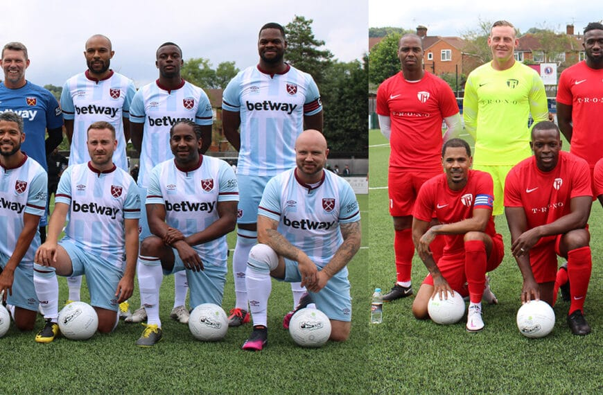West Ham Legends vs Team Harvey Charity Match 2021 In Aid Of Doms Food Mission