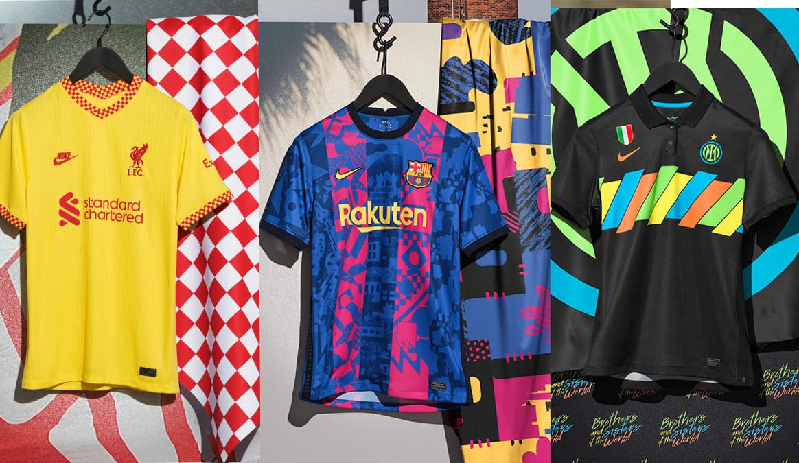The Nike 2021-22 Third Kits Bring the Magic of European Nights