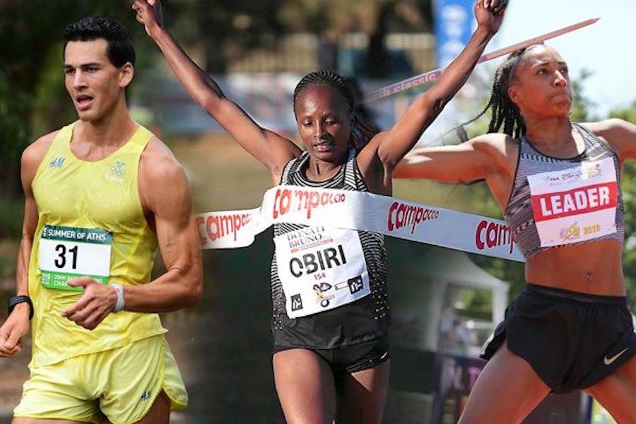 trio of athletes