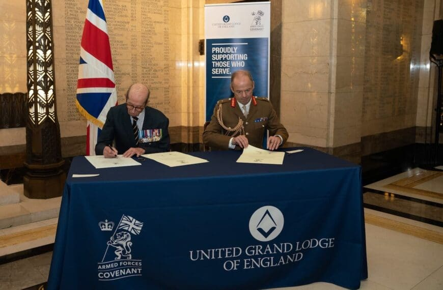 Freemasons Sign Up To Armed Forces Covenant