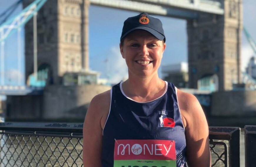 Army Cadets Ambassador Completes London Marathon Around Tower Of London In Aid Of RBLI