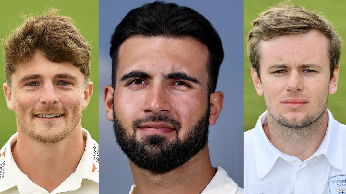 Lions players from left Tom Abell Saqib Mahmood and Mason Crane Getty Images