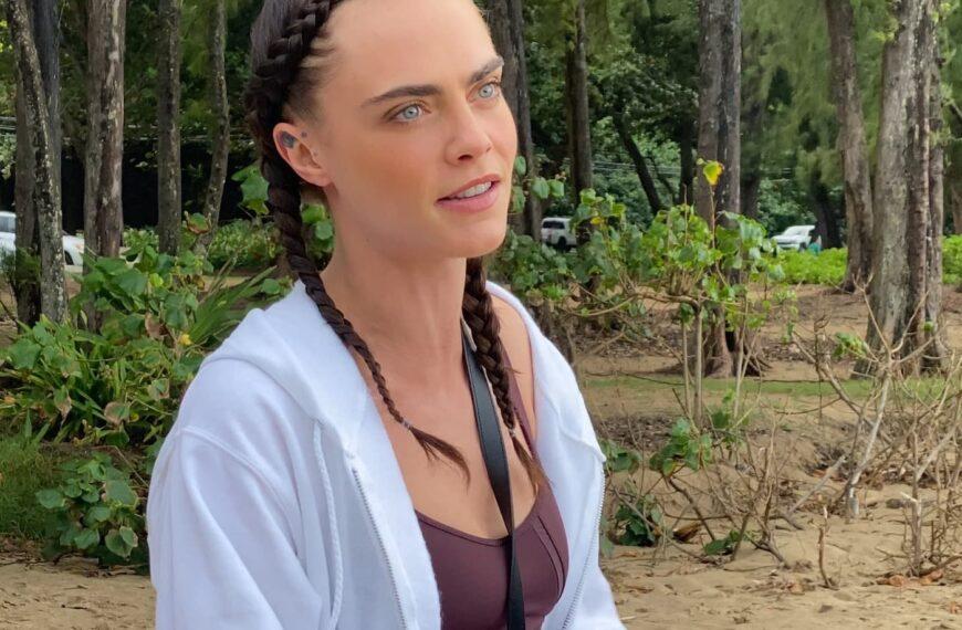 Cara Delevingne and Puma Clean Up Beach In Hawaii