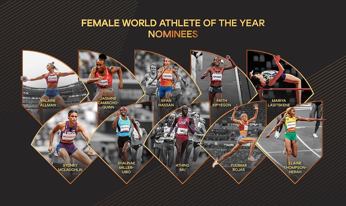 female world athlete of the year 2021