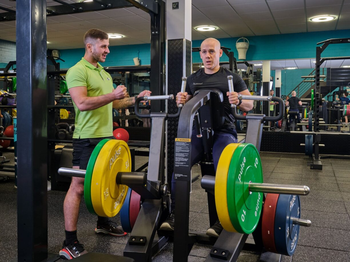 heavy weights with instructor 2