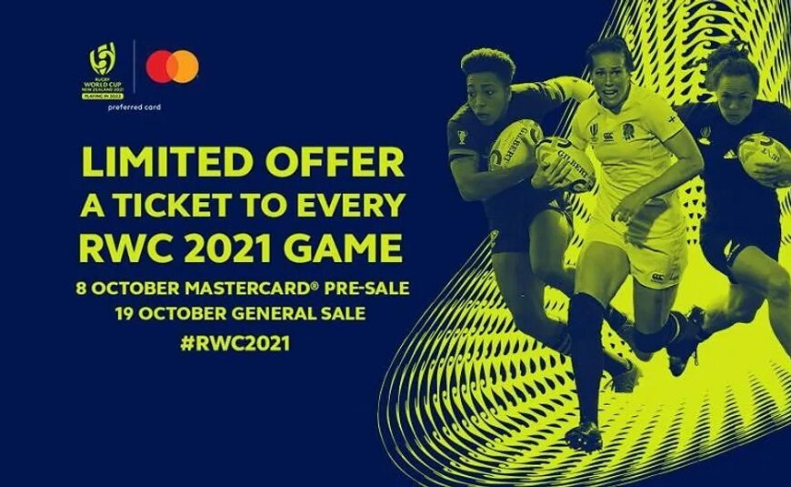 Rugby World Cup 2021 Launches Limited Edition Mastercard RWC 2021 Tournament Pass To Celebrate One Year To Go Milestone
